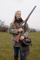 Somerset photographer celebrates International Women's Day with two new portraits for 2018 project marking 100 years of women's suffrage - Abbey Burton, First Woman to set a British Record title of 100% perfect score in Olympic Trap Clay Shooting. From the series First Women by Anita Corbin, March 2013.