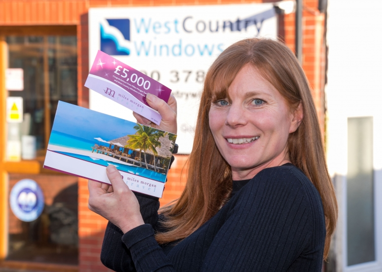 Doulting Bishop joyful at West Country Windows prize draw win!