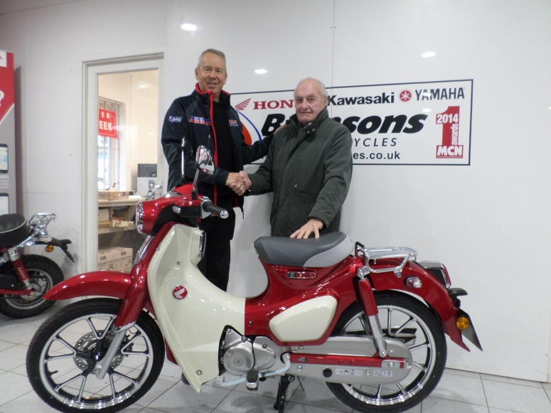 The benefits of keeping mobile clearly evident as octogenarian picks up latest motor cycle from SW motorcycling specialists