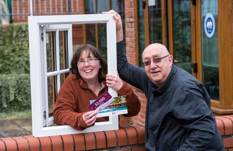 Burnham mother of four wins £2000 holiday thanks to Somerset manufacturer West Country Windows